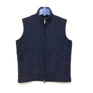Ralph Lauren Golf Blue Full-Zip Sleeveless Vest